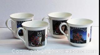 Set Of Fun Villeroy & Boch Bone China Coffee/Tea Cups