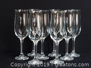 Set Of Beautiful Crystal Champagne Flutes