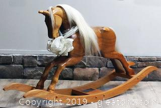 Custom Commissioned Hand Carved Rocking Horse / Replica of Gift to Prince Harry & William
