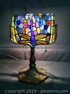 Tiffany Like Desk Lamp Bankers