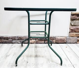 Outside Patio Glass Top Table Bar Stool Height