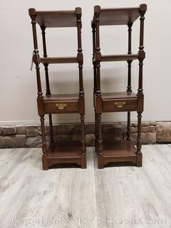 Pair Of Pennsylvania House Accent Table Stands