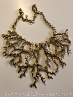 Kenneth J Lane Coral Reef Bib Necklace