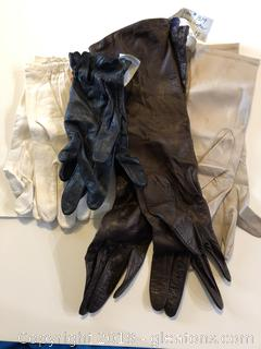 Lot of size 6-1/2 High End Leather Gloves