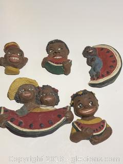 "Black Americana Lot of Refrigerator Magnets ""B"""