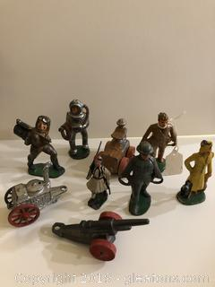 Lot of Die Cast Manoil, Barclay Lead Toy Soldiers