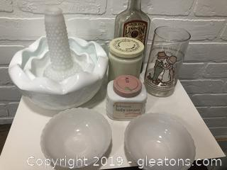 Vintage Milk Glass and More Lot