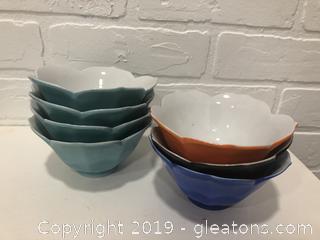 Lot of vintage lotus bowls