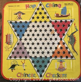 Vintage Hop Ching Chinese Checkers