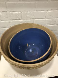Antique Ironstone Mixing Bowls  USA