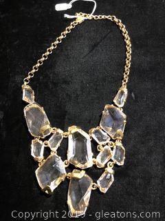 Crystal Bib Necklace by Kenneth Jay Lane