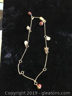 Sought After Joan Rivers Fabregere Egg Charm Necklace