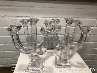 Towle Lead Crystal Candelabras