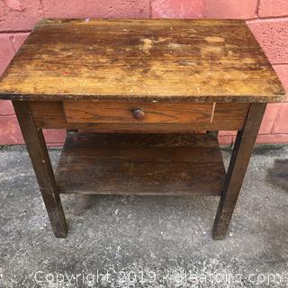 Craftsman Oak Side Table.