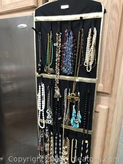 Lot of Designer Necklaces with Joan Rivers Nicklace Organizer