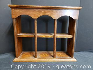 Vintage Wooden What/Knot Shelf
