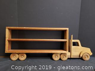 Wooden Truck Wall Hanging Knick Knack Shelf