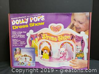 "Vintage ""Dolly Pops"" Dress Show New Never Opened Child's Toy"