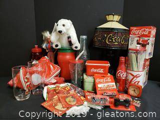 Vintage Lot Of New And Used Coca Cola Memorabilia
