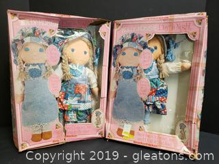 "PR Of Vintage ""New"" In Box Holly Hobbie Day N Night Doll"