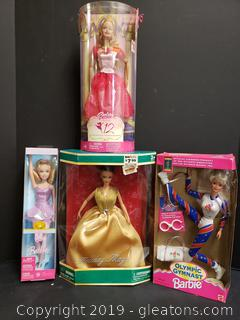 Set Of (4) New In Box Barbie