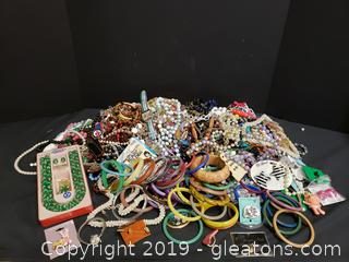 Box Lot Of Vintage Costume Jewelry