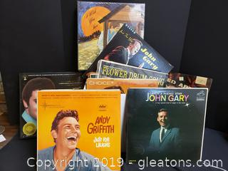 Box Lot Of Vintage Records Includes The Elvis Preskey Story