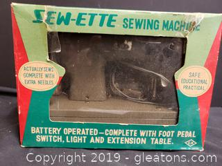 "Vintage Sew-Ette Sewing Machine ""New In Box"""