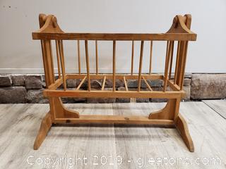 Vintage Wooden Doll Cradle