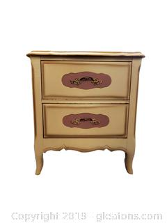 Small French Provincial Style Night Stand/End Table