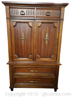 Vintage Armoire/Chest With Hidden Drawers Lots Of Detail