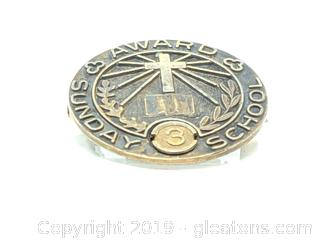 Sterling Silver Award Pin