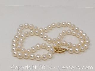 Beautiful 14k Pearl Necklace