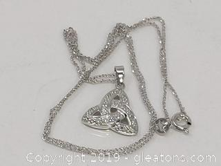 14k Irish Knot Diamonds 14k Chain