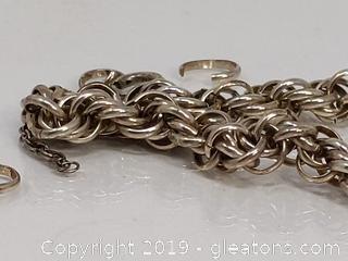 Sterling Silver Double Link Bracelet 10.85gr.