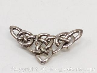 Sterling Silver Woven Design Pin