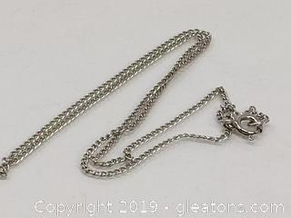 "18"" Sterling Silver Chain"