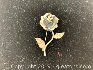 Sterling Rose Pin 3.2 Grams