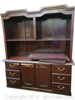 Large Bookshelf/Desk Credenza/Storage Wall Cabinet/Office
