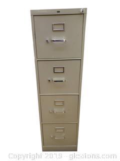 HDN (4) Drawer Metal Filing Cabinet