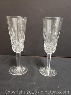 Waterford Lismore Champagne Glasses Set Of 2