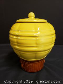 Vintage Pottery Made In USA Cookie Jar