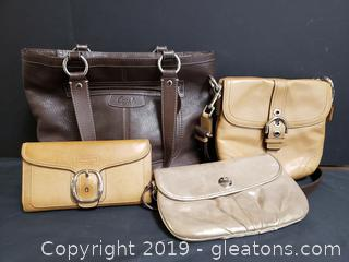 Set of Authentic Coach Hand Bags Wallets