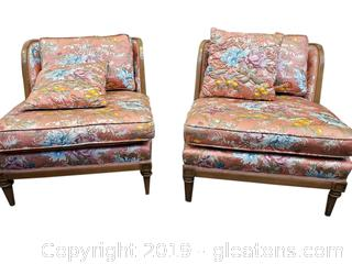 PR Of Vintage Wide Seat With Extra Accent Pillows Chairs