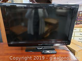 "32"" Sharp Flat Screen T.V. With Remote"