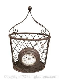 New In Box Decorative Wire/Metal Wall/Desk Clock