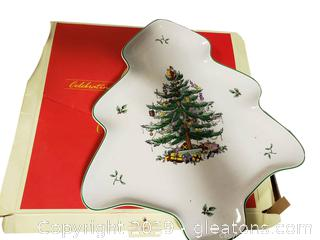 "New In Box'Spode"" Christmas Tree Dish"
