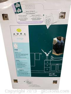 "Aura Home Design ""New"" In Box (4) Hole Beveled Mirror/Vanity"