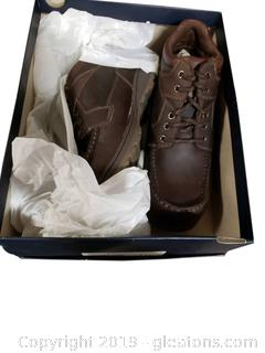 "Size 10½ Men's Leather Shoes Clemmons Brown ""New In Box"" Sonoma"