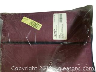 """New"" In Package Washable Antique Satin Drapes Burgundy"